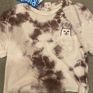 Tie-dye Rip N Dip Cropped T-Shirt